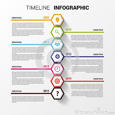 Free Timeline Infographics. Hexagonal Design Template. Vector Royalty Free Stock Photo - 51268205