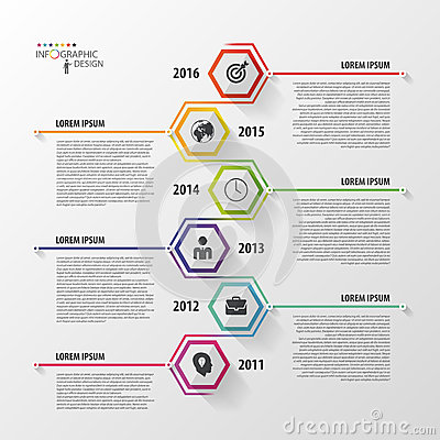 Free Timeline Infographics. Hexagonal Design Template. Vector Stock Photography - 55591112