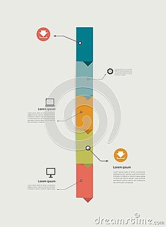 Timeline infographics. Step template design.