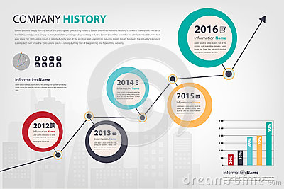 Timeline & Milestone Company History Infographic In Vector Style ...