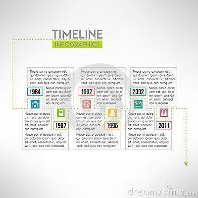 Timeline template infographic suitable for stock vector for Pr timeline template