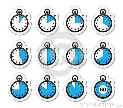 Time, clock, stopwatch  icons set