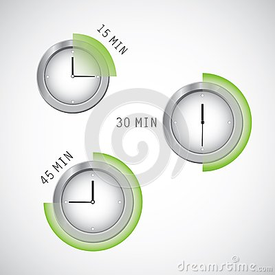 Timers vector illustration