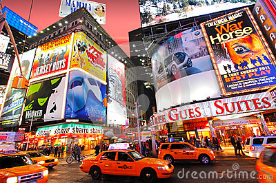 Times Square Fotografia Editoriale