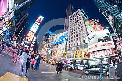 Times Square Editorial Photo
