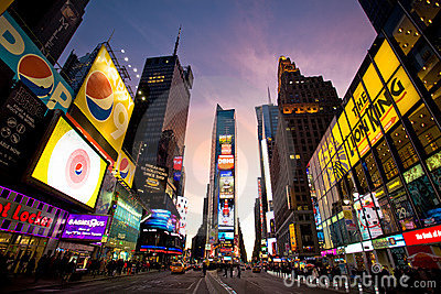 Times Square Editorial Image