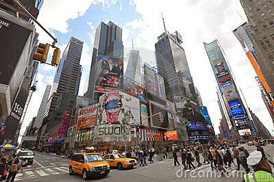 Times Square, 7th Ave, New York City Editorial Image