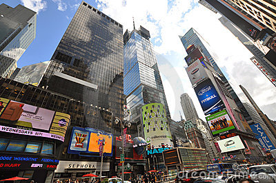 Times Square, 7th Ave, New York City Editorial Stock Image