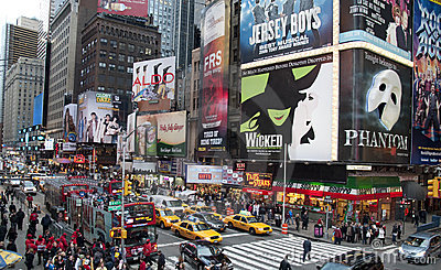 Times Square Billboards Editorial Stock Photo
