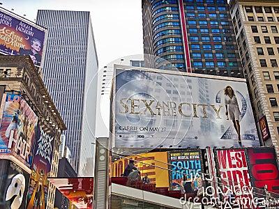 Times Square Billboards Editorial Photo