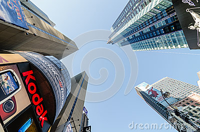 Times Square Buildings and Kodak Sign. Editorial Photography
