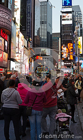 Times Square cowboy guitar Editorial Photography