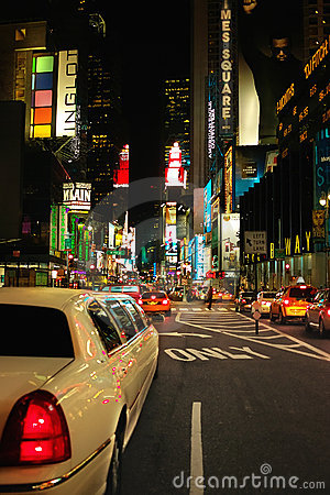 Times Square Limo New York USA Editorial Photo