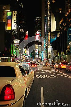 Free Times Square Limo New York USA Royalty Free Stock Image - 17063866