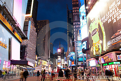 Times Square New York Editorial Photography