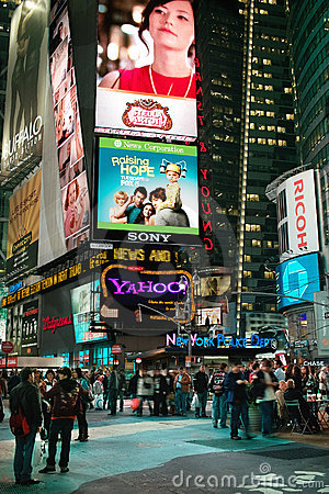 Times Square New York USA Editorial Image