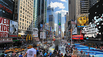 Times Square in New York Cirty Editorial Photo