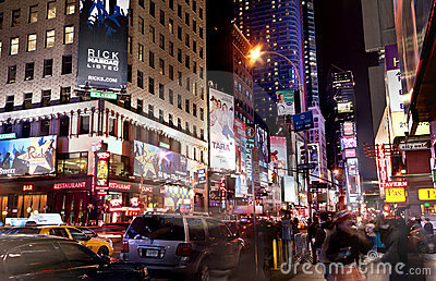 Times Square New York City Editorial Image