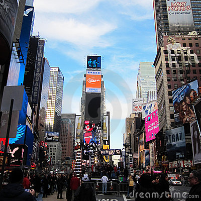 Times Square in New York City Editorial Image