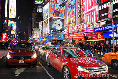 Times Square, New York City, Manhattan Editorial Stock Image