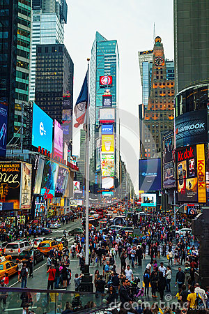Times square in New York City Editorial Stock Image