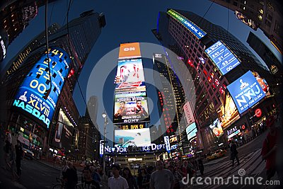 Times Square New York Editorial Stock Image