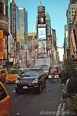 Times Square, New York City. USA Editorial Stock Photo