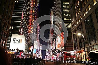 Times Square, New York street night life January 1, 2008, New Yo
