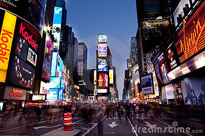 Times Square by Night Editorial Photo