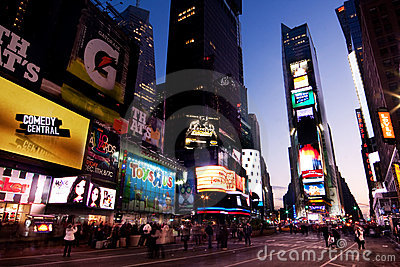 Times Square by Night Editorial Photography