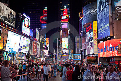 Times Square at night Editorial Stock Photo