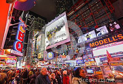 Times Square by night Editorial Stock Photo