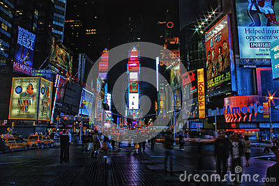 Times Square at Night Editorial Image