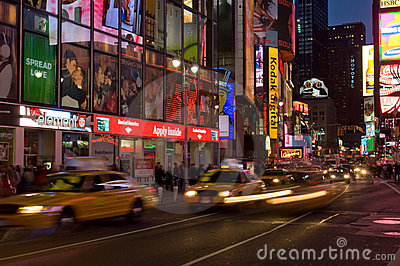 Times Square At Night Editorial Stock Image