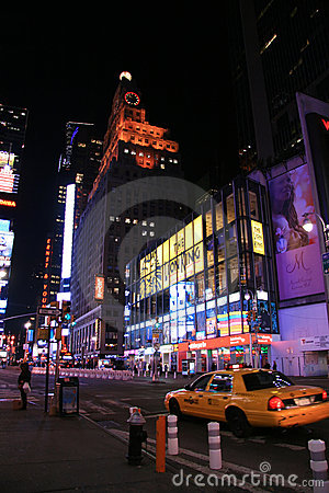 Times Square at Night, New York Editorial Stock Photo