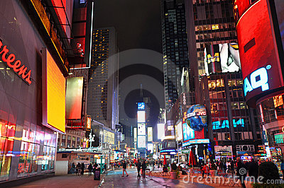 Times Square at night, New York City Editorial Photo