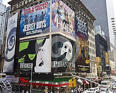 Times Square Nueva York. Imagen de archivo editorial