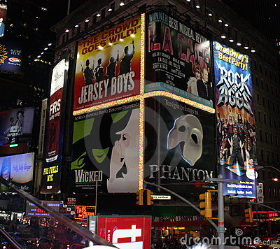 Times Square in NYC Editorial Stock Photo