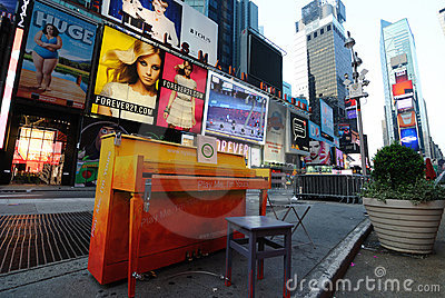 Times Square Piano Editorial Photo