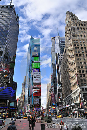 Times Square Skyscrapers Editorial Photography