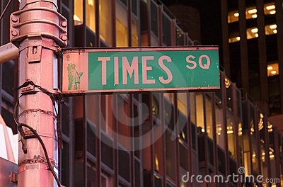 Times Square street sign, NYC