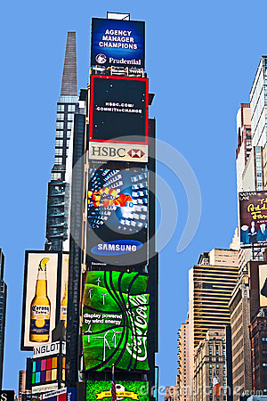Times Square  is a symbol of New York Editorial Photo