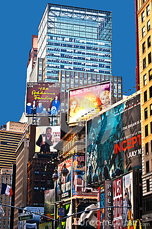Times Square  is a symbol of New York Editorial Stock Image