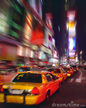 Times Square Taxis New York USA