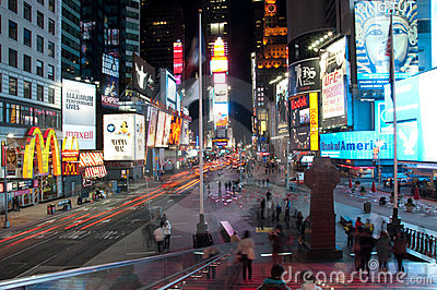 Times square tourist spot Editorial Stock Image