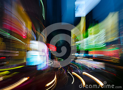 Times Square Zoom Burst