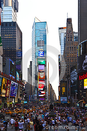 Times Squares  is a symbol of New Editorial Stock Photo
