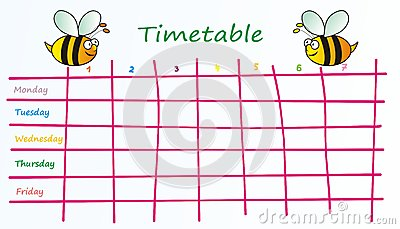 School Timetable With Kids Royalty Free Images Image 25931389 – School Time Table Designs