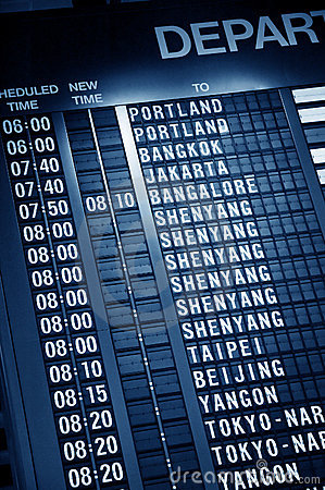 Free Timetable In Airport Royalty Free Stock Photo - 18605305