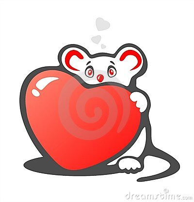 Timid mouse and heart